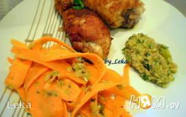 Морковный салат с оливковым тапенадом + голени