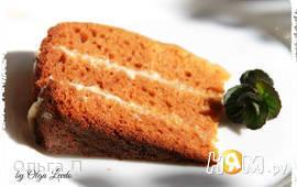 Карамельный бисквит в мультиварке