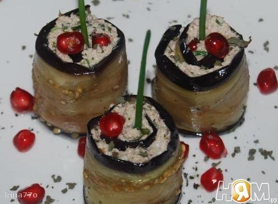 Рецепт Баклажаны с грецкими орехами