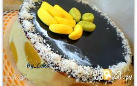Торт с шоколадно - фруктовым муссом