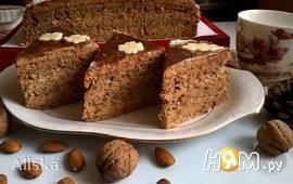 """Ореховый торт с черносливом """"Вечерняя заря"""""""