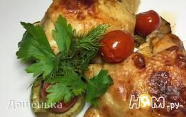 Цыпленок с хариссой и овощами