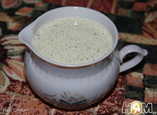 Рецепт Йогуртовый соус с анчоусами