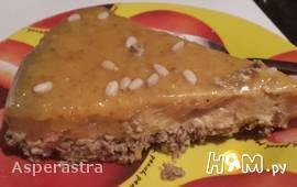 Пирог из хурмы с мандариновой карамелью