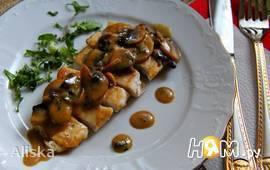 Куриные грудки с кленово-горчичным соусом