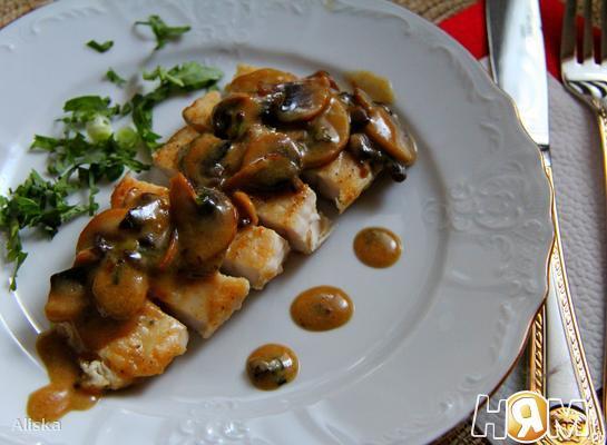 Рецепт Куриные грудки с кленово-горчичным соусом