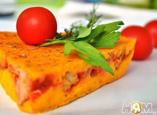 Морковный пирог с мясом