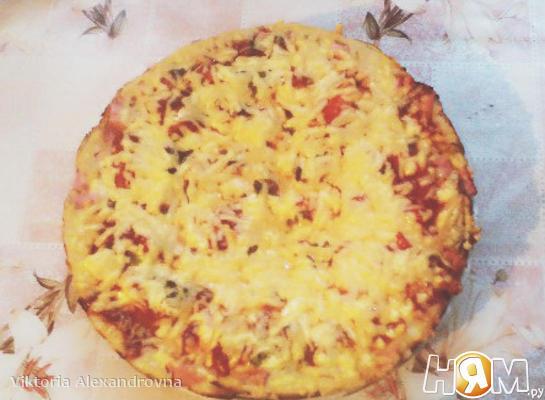 """Рецепт Пицца """"Минутка"""""""