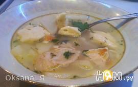 Куриный суп с заварными клёцками