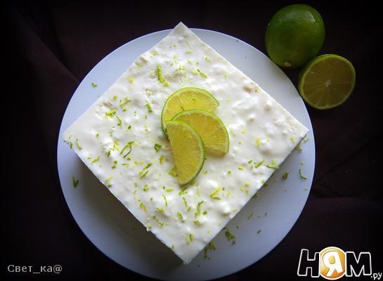"""Бисквитный торт с суфле """"Цитрус"""""""