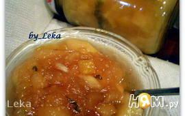 Варенье из кабачка и яблок с лимоном и мятой