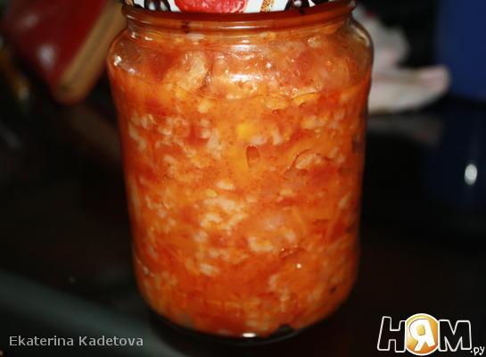 Рецепт Салат овощной с рисом на зиму