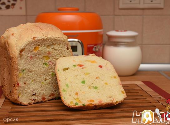 Рецепт Йогуртовый хлеб с цукатами