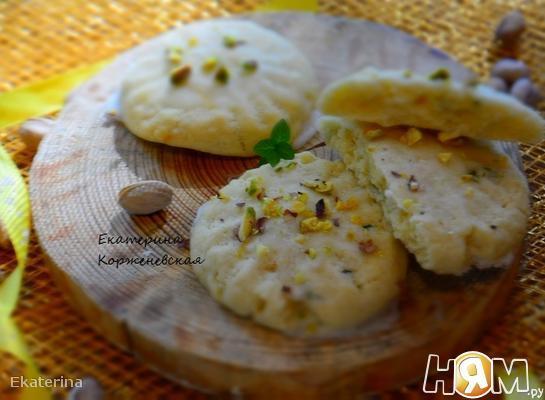 Лимонно-мятное печенье с помадкой