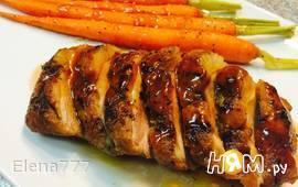 Утиная грудка с глазурованной морковью