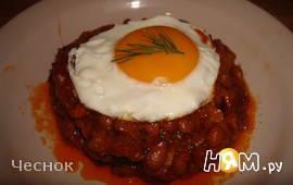Пикантная закуска с фасолью и беконом