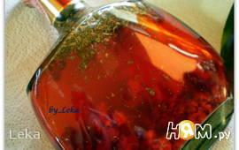 Малиновый уксус с ароматными травами