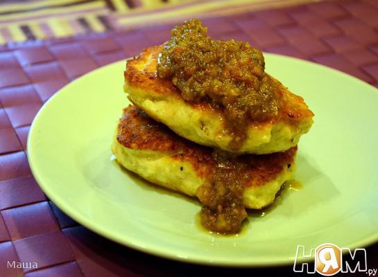 Курино-картофельные  зразы с начинкой