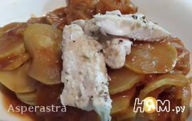 Ужин - минутка из судака и кабачков