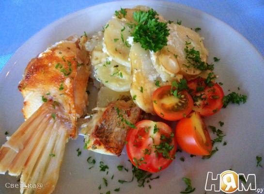 Рецепт Картофельная запеканка с судаком