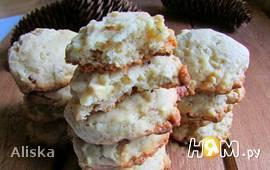 Белое шоколадное печенье