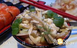 Салат из баклажан и замаринованного лука