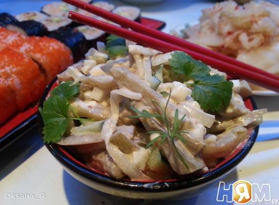Рецепт Салат из баклажан и замаринованного лука
