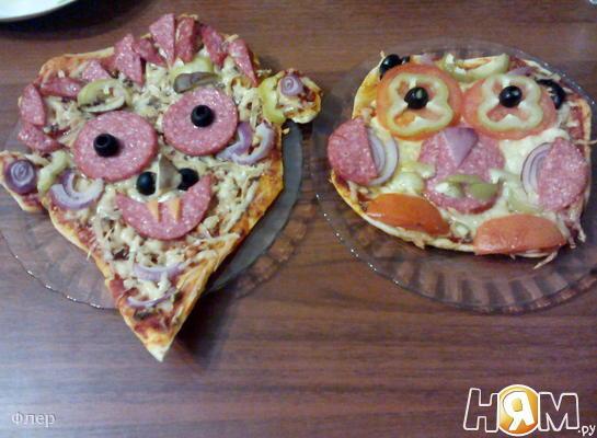 Пицца на Хэллоуин - Дракула и сова