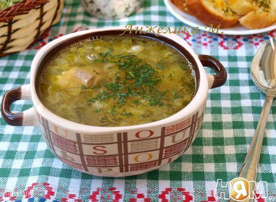 Суп с говядиной и фасолью