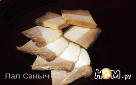 Варёное соленое сало