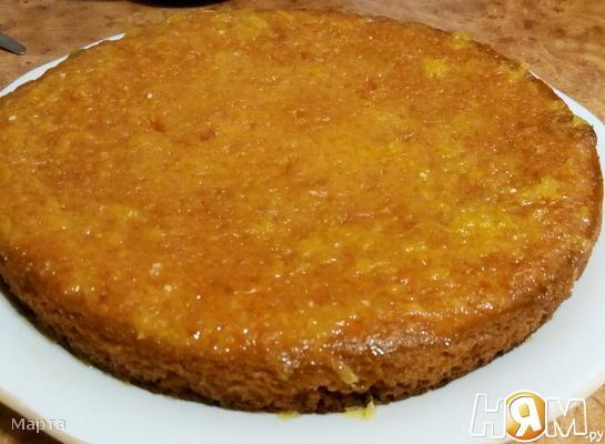 Апельсиново-сметанный пирог