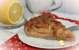 Пирог - клафути с яблоками и корицей