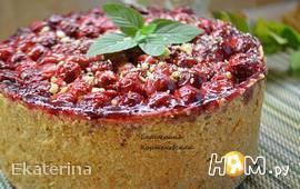 Немецкий творожный пирог с вишней