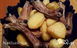 Свиные деликатесные ребра с запеченным картофелем
