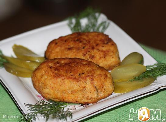 Рыбные зразы с грибами и сыром