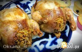 Цыплята, фаршированные кус-кусом и шампиньонами