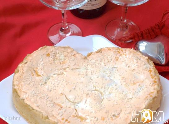 Цитрусовый пирог с безе