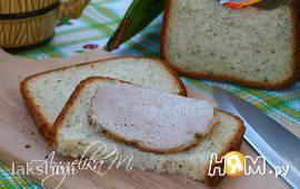 Пшеничный хлеб с сушёной петрушкой в хлебопечке