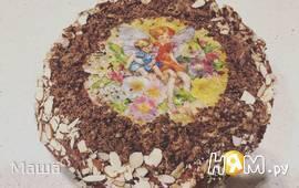 """Шоколадный торт с вишней """"Валентин"""""""
