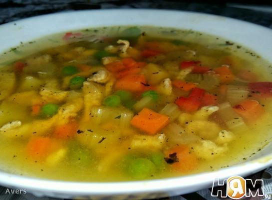 Суп с пряной курицей