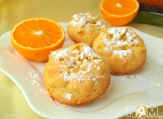 Апельсиновые кексы с кокосовой стружкой