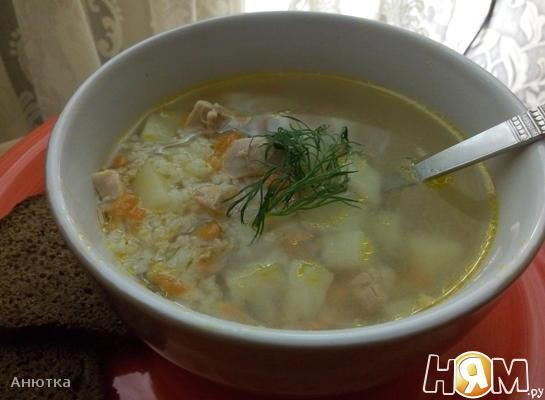 Суп рисовый с мясом курицы