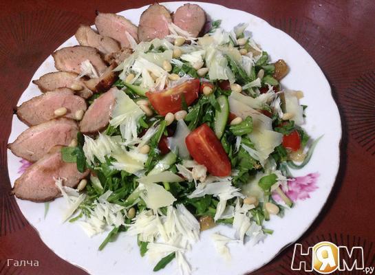 Салат по-французски с утиной грудкой