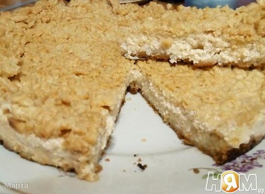 Пирог с творогом (тесто на терке)
