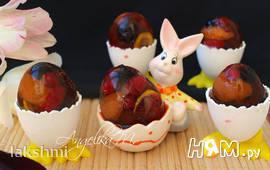 Фруктово-ягодные заливные яйца