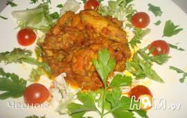 Крестьянская курица с фасолью по-Мексикански