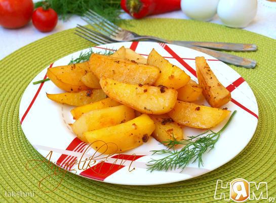 Картошка запечённая в соевом соусе