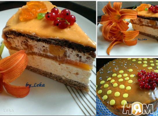 """Абрикосовый торт """"Солнце"""""""