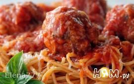 Паста с мясными шариками по-Итальянски