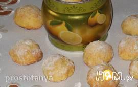 Лимонное печенье с кракелюрами